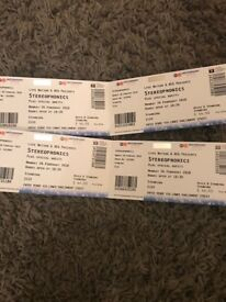 Stereophonics tickets - 4x standing tickets at Nottingham Arena 26th Feb 2018.