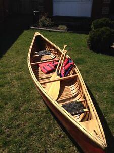 Canvas Cedar Strip Canoe