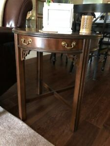Antique Pair Lane Chippendale Style End Tables