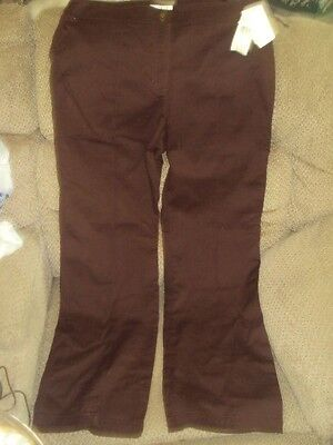 JONES NEW YORK WOMEN'S STRETCH SLACKS/PANTS-SIZE 14-CHOCOLATE-NWT