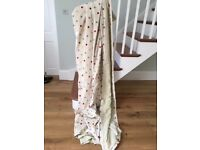 Top quality spotty fabric curtains with blackout lining