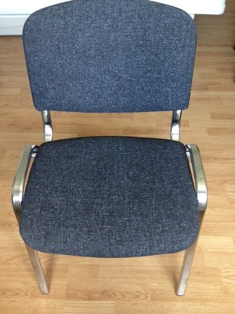 Visitor/Office/Meeting Room Chair Grey - NEW (2 in Total, Please See Description).