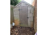 Garden shed, lapwood, pitch roof with windows, 7' x 5'wide