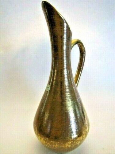 Vintage Hand Painted 22K Granada Gold Elegant STANGL Pitcher / Vase / Ewer #4055