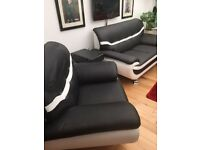 3 seat, 2 seat sofa plus chair and coffee table