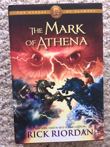The Heros of Olympus and Kane series books by Rick Riordan
