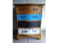 Vintage Antique Mahogany Serpentine Front Chest of 4 Drawers