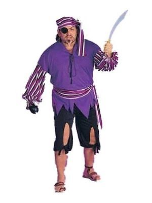 Pirate BUCCANEER BARNEY Halloween Rubies Full Figure Deluxe Costume 17301](Barney Halloween Costume)