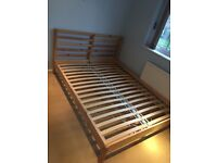 Wooden double bed-frame