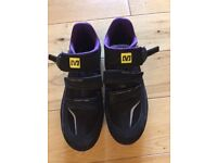 Mavic ladies cycling shoes worn once on a spin bike as new size 7