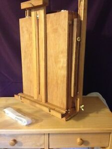 Folding Wooden Artists Tripod Easel PLUS extras ! - Never used