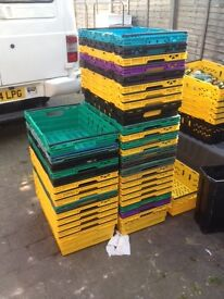 stacher crates lots assorted colours