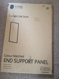 End Support Panel for kitchen cabinet units. Light Oak Style