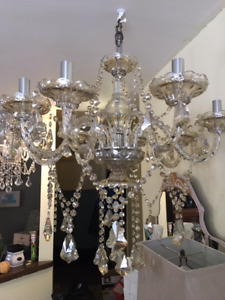 8 Arm Crystal Champagne Chandelier