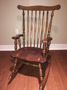 REDUCED! Solid Wood Antique Refinished Gorgeous Rocker & MORE