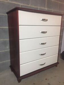 TALLBOY CHEST OF DRAWERS DRAWS DRESSER TALL BOY VGC