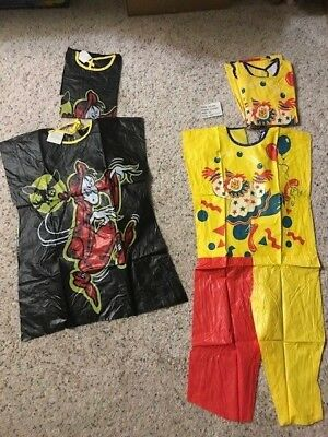 vintage VINYL new Halloween COSTUMES Tiny Tot 3-4 from Collegeville made