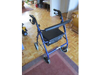 Disability Mobility 4 Wheel Walker with Storage Box & Brakes