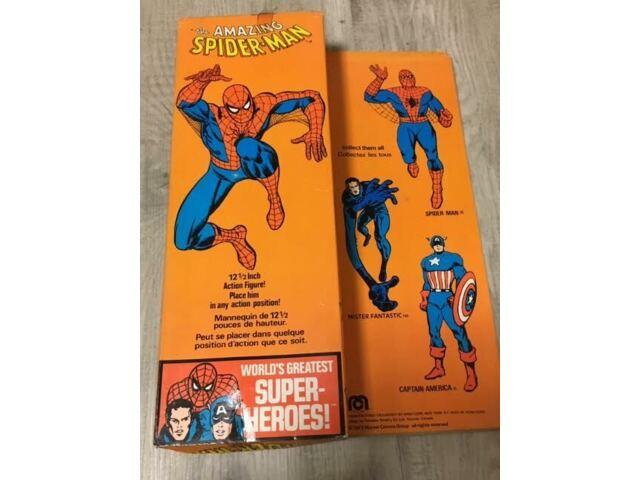 MEGO The Amazing Spiderman 1977 Vintage Original MOC 12.1/2 Original Box