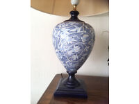 Beautiful stylish blue/cream lamp