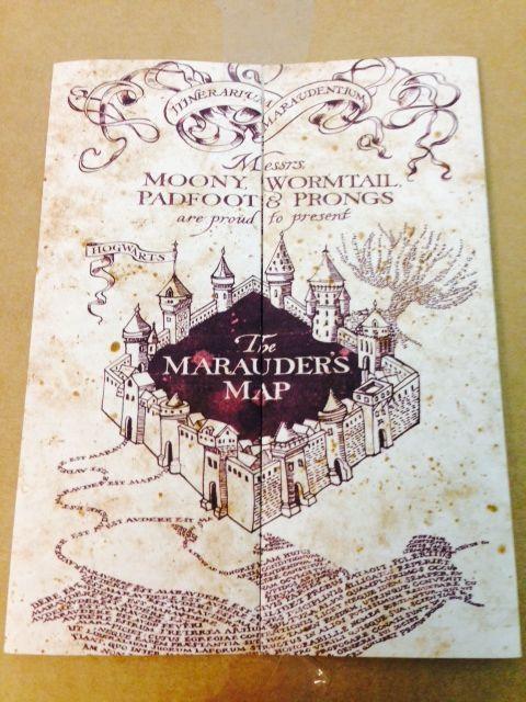 Marauder's Map Hogwarts Wizarding World Harry Potter Warner Bros LIMITED **NEW**