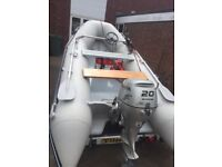 3.5mtr Rib and 20hp Honda for stroke . Immaculate condition . Sunsport 350 Air Rib .