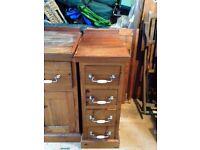 solid pine hand built kitchen units