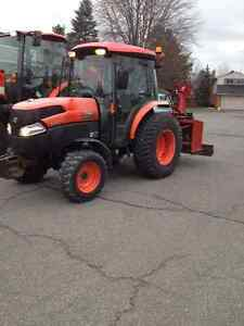 L5240 kubota hst with 74 inch roberge inverted snow blower