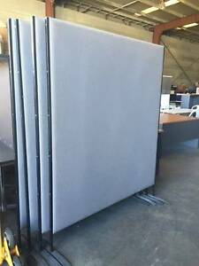 1500 Grey fabric free standing screens/ partitions for sale Smithfield Parramatta Area Preview