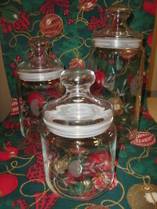 "PRINCESS HOUSE CRYSTAL "" HERITAGE "" CANISTER SET - $49.99"