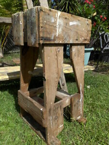 RECYCLED STRONG, TIMBER STAND, PLINTH, TABLE OR STOOL. Kelvin Grove Brisbane North West Preview