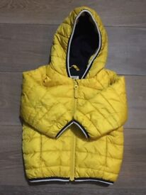 Used Next yellow baby padded jacket size 9-12 month
