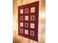 Red Modern Polypropylene Design Rug Measurements 47in/120cm x 66in/170cm