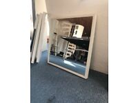 White square wall mirror