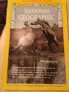 National Geographic Magazines 1940's to 1970's