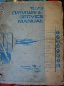 EVINRUDE  FASTWIN 18 HP OUTBOARD WORKSHOP SERVICE MANUAL  c1973