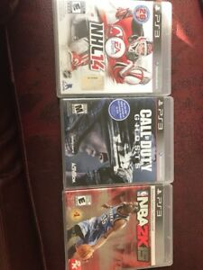 PS3 games NHL14, Call of Duty ghosts, NBA 2k15