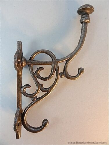 SUPERB LARGE FANCY ART NOUVEAU TRIPLE HOOK COAT HOOK COATHOOK RACK HANGER AN1