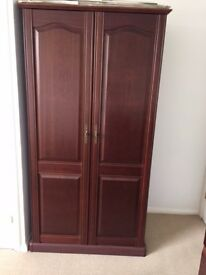 Dark Hardwood Wardrobe in excellent condition