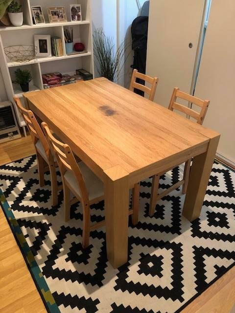 Ikea Dining Table And 4 Chairs Dining Tables Gumtree Australia