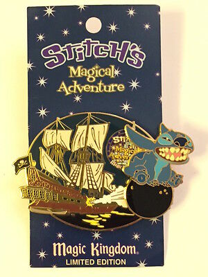 Disney WDW Stitch's Magical Adventure Pirates of the Caribbean pin LE 2000 MOC