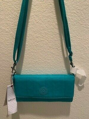 Women's Kipling Marla Crossbody Clutch Vibrant Jade AC7329 New