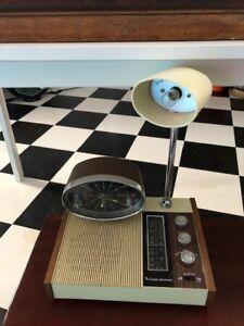 1960 trio Symphonette radio cadran de table + lumière