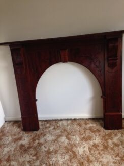 Victorian Arch Timber Fireplace Mantle