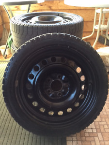 Michelin X Ice Snow Tires (Size 215/45R17) with Rims and Lugs