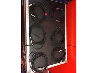 6x 5m XLR Cables