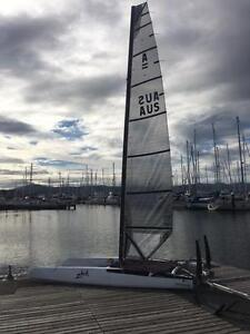 Foiling A class catamaran Hobart CBD Hobart City Preview