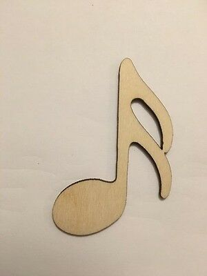 Crafting Supplies - Sixteenth Note, Music, Unfinished Laser Cut Wood A026 - Unfinished Wood Craft Supplies