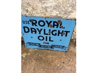small double sided royal daylight oil enamel sign (OFFERS)