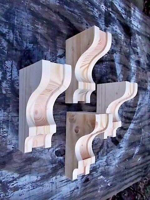 Купить Set of 4 Rustic Mission Style Corbels Shelf Brackets.. 5 x 8 (SCW#2905R)